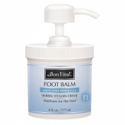 Bon Vital Original Foot Balm, 180ml Jar with Pump
