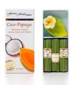 COCO PAPAYA INCENSE W/ CERAMIC HOLDER - HAWAIIAN GIFT BOX SET