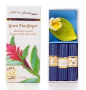 GREEN TEA & GINGER INCENSE W/ CERAMIC HOLDER - HAWAIIAN GIFT BOX SET