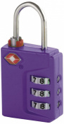 Travel Smart Travel Sentry 3-Dial Lock TSA Approved, Purple