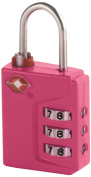 Travel Smart Travel Sentry 3-Dial Lock TSA Approved, Raspberry