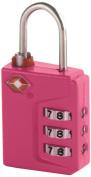 Travel Smart Travel Sentry 3-Dial Lock TSA Approved, Raspberry