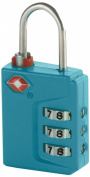 Travel Smart Travel Sentry 3-Dial Lock TSA Approved, Teal