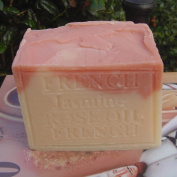 Special Large Aged Limited Edition Soap French Jasmine With Crushed Flowers and Rose Oil