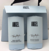 Angel by Thierry Mugler for Women Gift Set Celestial Body Lotion 1.0 oz 30ml + Celestial Showers (shower Gel) 0.83 oz 25ml