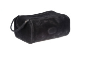 Danielle Hudson Men's Collection Midnight Black Dual Zip Bag, 22.9cm X 14cm X 8.9cm
