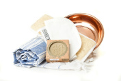 Turkish Bath Hammam Spa Gift Set Including Pestemal, Kese, Copper Bowl, Loofah and Aleppo Soap