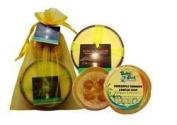 Hawaiian Bubble Shack Loofah Soap & Monkeypod Candle Gift Set Juicy Pineapple