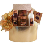 Art of Appreciation Gift Baskets Chocolate Truffle Spa Bath and Body Gift Box Set