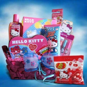 Hello Kitty Toiletry Gift Basket Ideal for Birthday and Get Well Soon Basket for Girls