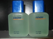 Fathom Cologne for Men By Mem - 15ml - Miniature Travel Size (Unboxed) - 2 Pack