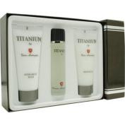 Titanium Lamborghini By Tonino Lamborghini For Men. Set-edt Spray 100ml & Shower Gel 200ml & Aftershave Balm 200ml
