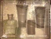 Realities for Men Gift Set - 4pc Cologne Spray 50ml After Shave 70ml Deodorant 30ml Hair and Body Wash 70ml