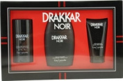 Drakkar Noir By Guy Laroche For Men Edt Spray 100ml & Aftershave Balm 50ml & Deodorant Stick 60ml