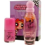 Powerpuff Girls Blossom By Warner Bros For Women. Set-edt Spray 50ml & Roll On Glitter 30ml