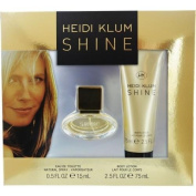 Heidi Klum Shine Eau de Toilette Gift Set, EDT spray 15ml, Body Lotion 70ml