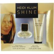 Heidi Klum Shine Eau de Toilette Gift Set, EDT spray 15ml, Body Lotion 70ml