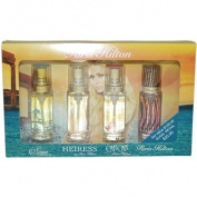 Paris Hilton Variety by Paris Hilton for Women - 4 Pc Mini Gift Set 15ml Paris Hilton EDP Spray 15ml Can Can EDP Spray 15ml Heiress EDP Spray 15ml Siren EDP Spray