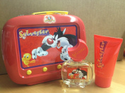Looney Tunes Sylvester Gift Set 50ml EDT Spray + 75ml Shower Gel + Tin