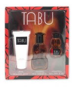 Tabu 3 Piece Gift Set - 1 x Body Lotion (2.0 FL OZ), 1 x Eau De Cologne Spray (1.5 FL OZ), & 1 x Eau De Cologne Splash