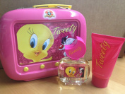 Looney Tunes Tweety Gift Set 50ml EDT Spray + 75ml Shower Gel + Tin