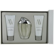 AV by Adrienne Vittadini SET-EAU DE PARFUM SPRAY 90ml & BODY LOTION 100ml & SHOWER GEL 100ml for WOMEN