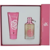 WOMAN IN ROSE by Alessandro Dell Acqua SET-EDT SPRAY 50ml & BODY LOTION 100ml for WOMEN