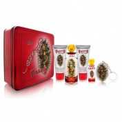 ED HARDY VILLAIN Women Gift Set Eau de Perfume 120ml Spray + 5ml Spray + 90ml Lotion + .oz CRM B/WAS