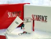 Scarface Gift Set 5 Pcs. (3.4 Fl. oz. Parfum Spray + 200ml Body Lotion + 10ml Miniature + Key Chain + Scarf) Women By Universal Studios