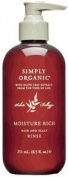 Simply Organic Moisture Rich Hair and Scalp Rinse Conditioner - 250ml