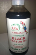 B's Organic Jamaican Black Castor Oil with Vitamin E & Panthenol Family Size