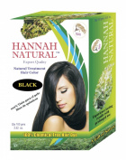 Hannah Natural 100% Chemical Free Hair Dye, Black, 100 Gramme