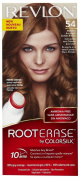 Revlon Root Erase by ColorSilk Ammonia-Free Permanent Colour, Light Golden Brown 54, 1 application