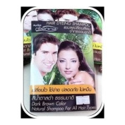 Natural Shampoo, Dark Brown Hair Colour (All Hair Type) for Men & Women, Easy to Use, Safety, No Nasty