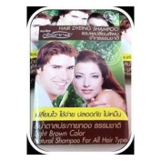 Natural Shampoo, Light Brown Hair Colour (All Hair Type) for Men & Women, Easy to Use, Safety, No Nasty