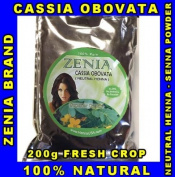 200g CASSIA OBOVATA Zenia Brand Neutral Henna Senna Powder 100% Natural