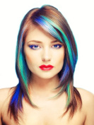 Hair Chalk Metallic Colour Set - 16 Vibrant Shimmery Colour Pods New!!! Comes with Felt Tip Mini Brushes for Designs