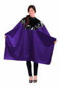 Betty Dain Signature Cosmix Chemical Cape, Purple, Snap Closure, 0.5kg