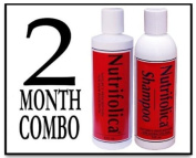 Nutrifolica Hair Loss Treatment & Cleansing Shampoo - No Sulphates - 2 Month Combo