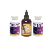 Fast Grow Ethnic Hair Vitamins 2 Month Supply Plus Fast Hair Grow Oil