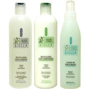 Dr Ross' BIOGEM Shampoo 350ml /Conditioner 350ml/Treatment 240ml- Normal to Dry