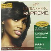 Ultra Sheen Supreme No Lye Regular Relaxer Kit, Value Pack, 45ml