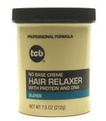 TCB Hair Relaxer 220ml Super Jar (3-Pack) with Free Nail File