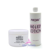 Razac SET (w/Shower Cap) Finishing Creme 240ml + Hand & Body Lotion 470ml