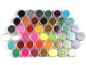 45 Colours Nail Art Make Up Body Glitter Shimmer Dust Powder Decoration