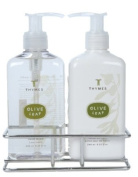 Thymes Sink Set, Olive Leaf, 240ml Bottle