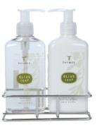 Thymes Sink Set, Olive Leaf, 240ml Bottle