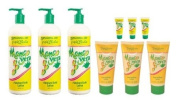Triple Lanolin Mango Vera Combo Hand & Body Lotion *contains 3-20oz Bottle, 3-2.25oz & 3-.75oz Tubes