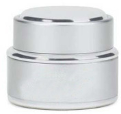 Nail Art Acrylic Dappen Dish/Liquid/Powder Container Silver