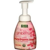 Liquid Foam Soap Organic Grapefruit 260mls